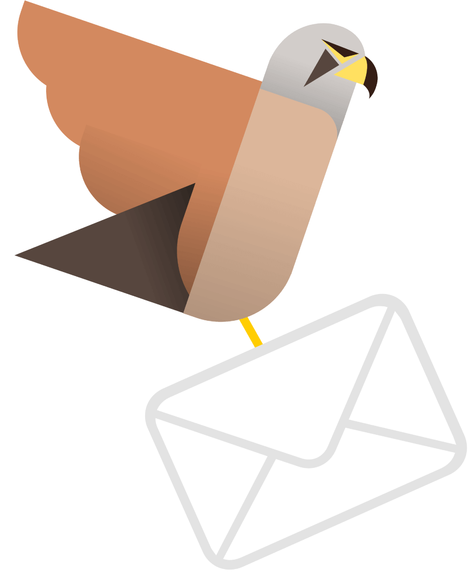 Kestrel with mail