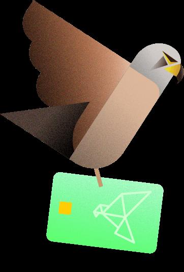 Kestrel with card